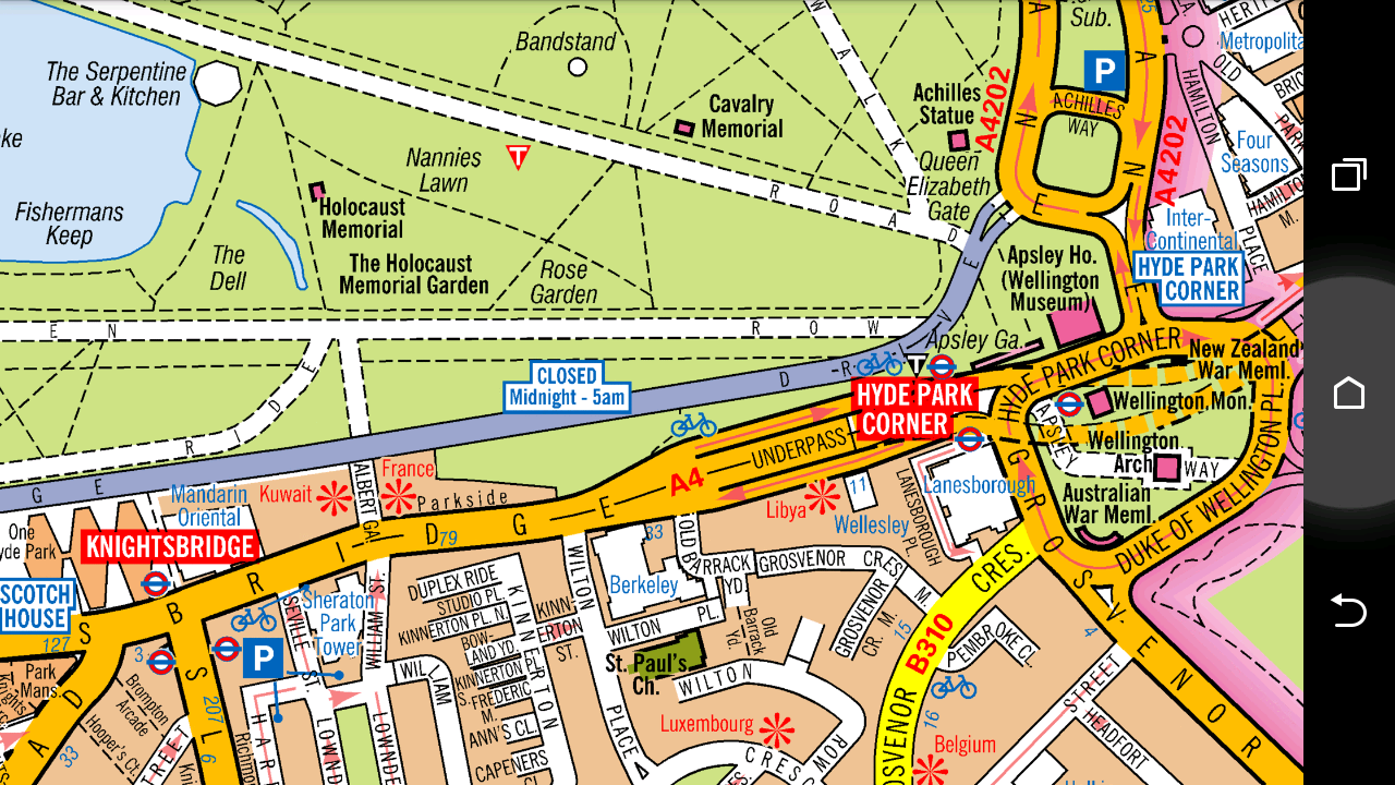 Hyde Park Corner...